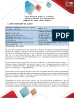Syllabus Del Curso Cultura Politica