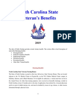 Vet State Benefits - NC 2019