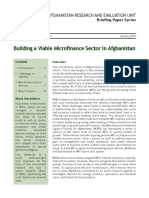 1001E Building a Viable Microfinance Sector in Afghanistan BP 2010