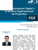PMI..La Transformacion Digital y Direccion Organizacional de Proyectos