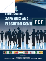 SAFA Quiz and Elocution Contest Guidelines