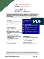 Introduction to Economics (EC1002)