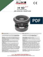 AudioSystem BDA-H10EVO