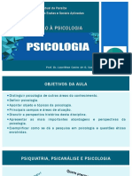 Aula 1 - Introdução à Psicologia