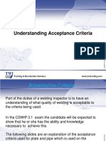 Acceptance Criteria for CSWIP 3.1