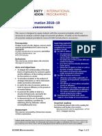 Microeconomics (EC2066)
