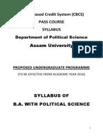 CBCS Political Science Pass