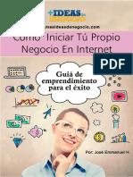 Emprende Tu Idea de Negocio Por Internet