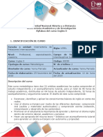 Syllabus del curso - Course syllabus Inglés 0.docx