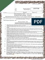 Kfc question paper