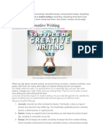 Types of Creative Writing