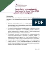 01 Guía. X Curso - Taller en IEA v Curso -Taller SPSS
