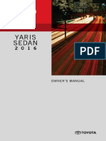 Toyota Yaris Manual