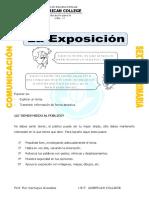 Ficha Elementos de La Exposicion Para Sexto de Primaria