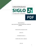 APLICACIÓN EN LOS CASOS DE MUERTE POR ACCIDENTE DE transito en chile