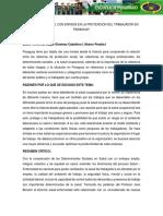 Salud Ocupacional Con Enfasis en La Protencion Del Trabajador en Paraguay