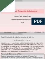 Teorema de Derivación de Lebesgue