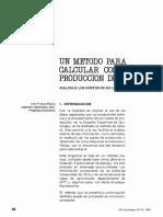 Un Metodo Para Calcular Los Costos de Producción de Leche
