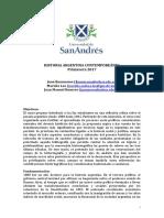Programa Historia Argentina Otoño 2018