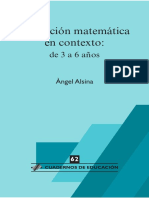 CE 62. Educaci_n Matem_tica en Contexto de 3 a 6 A_os