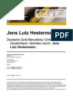 Jens Lutz Hestermann Erfahrungen - Goldbestand Goldproduktion Goldangebot Wertverlust Gold