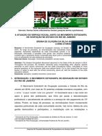 A Atuacao Do Assistente Social Junto Ao Movimento Estudantil de Ocupacoes de Escolas No RJ