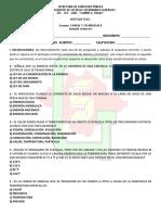 EXAMEN de CIENCIAS Segundo Trimestre 2019