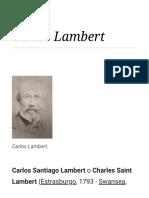 Biografía de Carlos Lambert