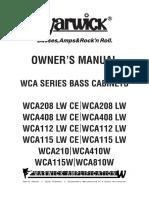 Warwick Wca Cabs Manual 473094