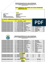 Tabela Municipal 2019