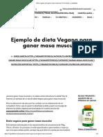 Dieta Vegana Para Ganar Masa Muscular _ Con Menús y Cantidades