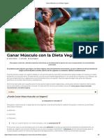 Ganar Músculo Con La Dieta Vegana
