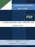 Cubicación de Tramo de Una via - Nataly Garzon, Juan Reyes, Felipe Guzman