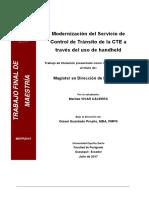 Proyecto Modernización Del Servicio de Control de Tránsito de La CTE a Traves Del Uso de Handheld