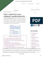 Dieta Vegetariana Para ADELGAZAR Equilibradamente【2018】