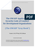 The OWASP Application Security Code of Conduct for Development Organizations