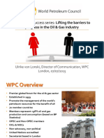 WPC Talk on Progressing Women at BP Sept2015