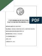 Teoría e Historia de La Historiografía (Pagano) - 2c 2019