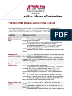 Microsoft Publisher Manual of Instructions
