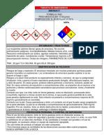 Tarjeta de Emergencia Amoniaco