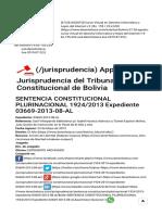 Sentencia Constitucional Plurinacional 1924_2013 Expediente 03669-2013-08-Al » Derechoteca