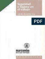 Adolfo Rodellar Lisa - Seguridad e Higiene en El Trabajo-Marcombo, S.a. (2009)