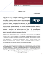 Rueda, Alba (2019)_ _Travesti - Trans_ en Boletín Nº 17 (Marzo 2019). Ciudad Autónoma de Bue