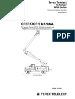Terex HR Series Operator Manual