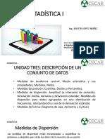 Estadística Descriptiva Unid 3 Med. Dispersión y Posición