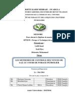 Methodes de Controle Des Venues de Gaz Au Cours de Forage Petrolier