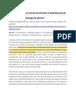 Dos formas de afrontar la identidad sexual. Personalismo e ideología de género - Burgos