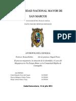 Monografia sobre Cantagallo 2014