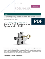 Build a Full Featured Login System With Php
