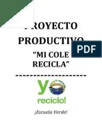 PROYECTO DE MINI RECICLAJE